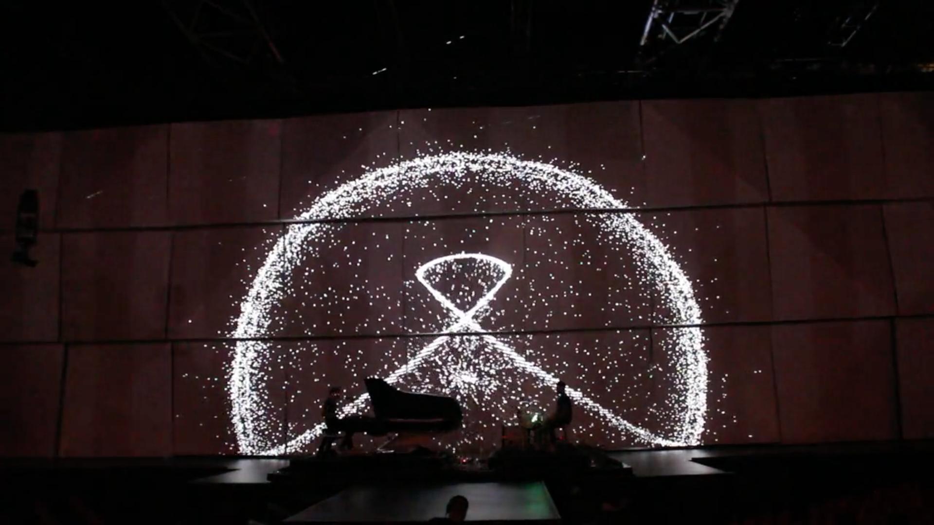 Murmur whispers — interactive show for music group ALB — rehearsal — Victoires de la musique 2015, Chevalvert
